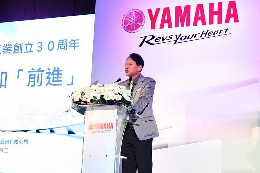 台灣山葉機車總經理武田真二表示,今年1~6月YAMAHA總掛牌數為11.8萬台,...