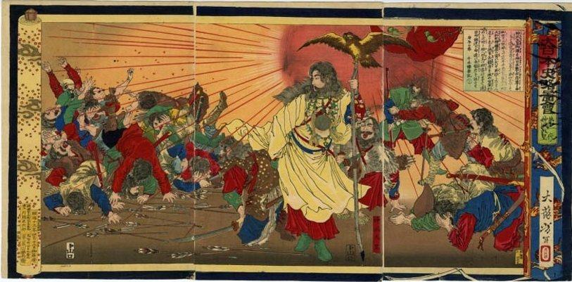 神武天皇據傳是日本第一代天皇,天照大神的後裔。 圖/維基共享