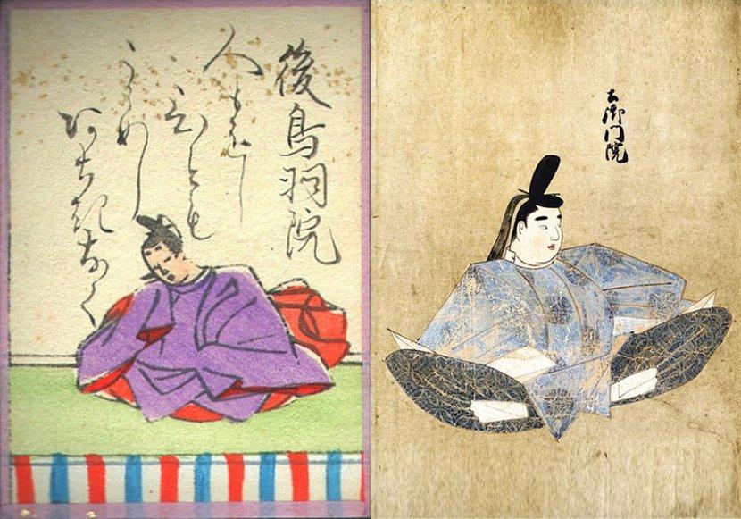 承久之亂裡被流放的後鳥羽上皇(左)跟土御門上皇(右),當時分別被稱為「後鳥羽院」...