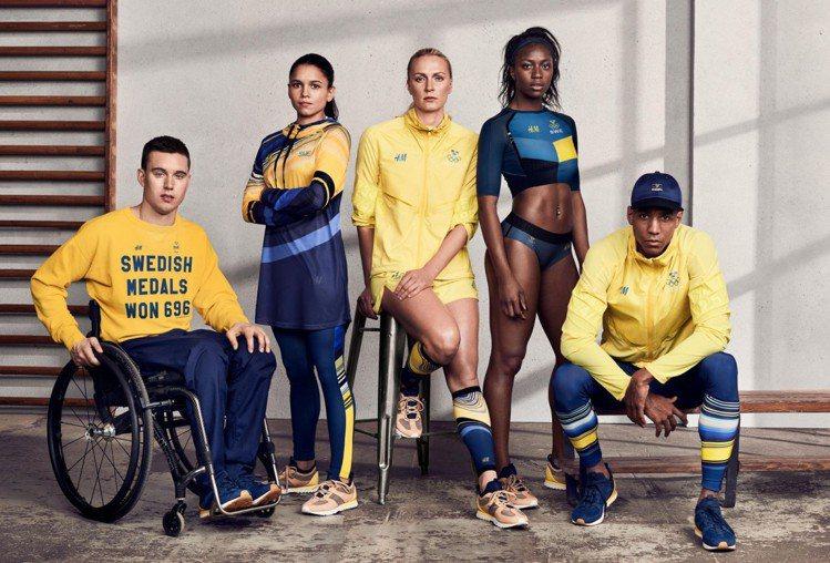 Sweden瑞典-H&M 由瑞典品牌H&M設計的隊服,黃藍主視覺色調呼應了...