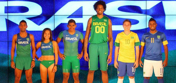Brazil巴西 暫時沒有看到東道主國家的隊服,但是國奧隊的運動服是Nik...