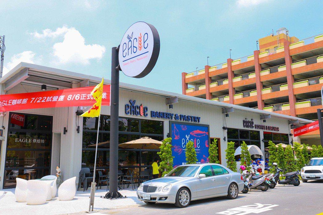 雄崗建設開設第3家餐廳,eagle岡山竹圍店在竹圍國小對面。 張世雅/攝影