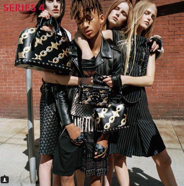 威爾史密斯的兒子傑登史密斯(中),年初登上Louis Vuitton的女裝廣告。...