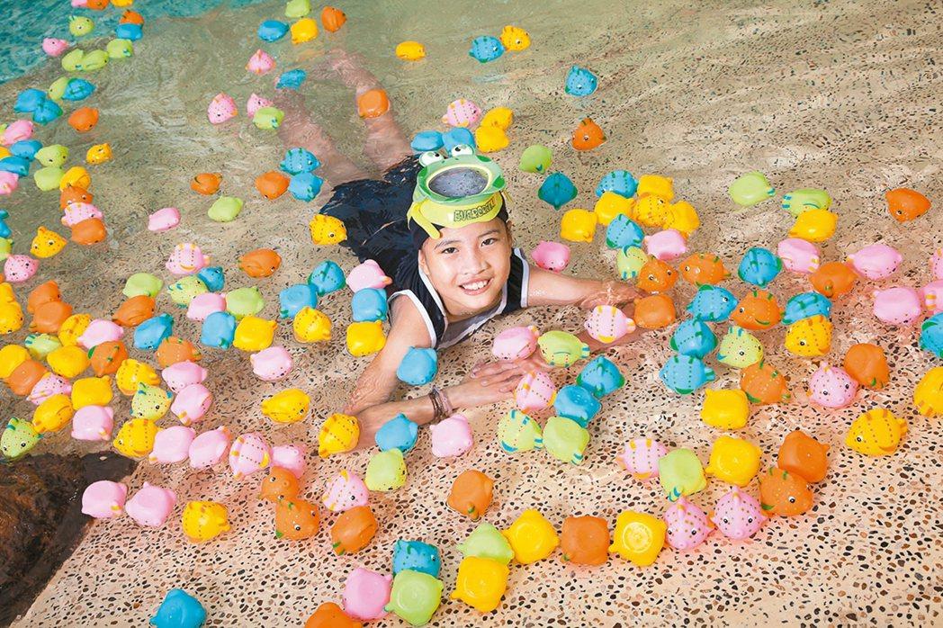 水遊避暑,也是一招。 圖/長榮鳳凰酒店(礁溪)提供