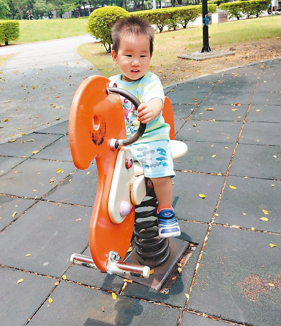 小朋友在公園遊樂場玩耍,家長還得注意各種設施與遊具潛在危險可能使孩子受傷。 記者...