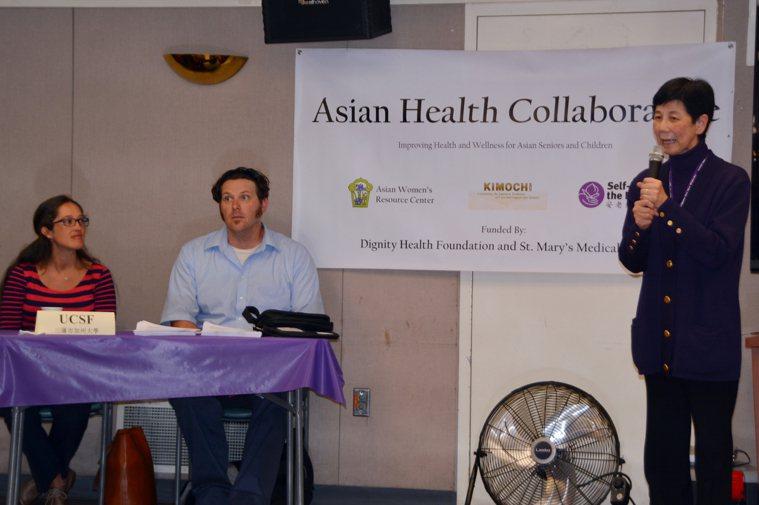 安老自助處邀請舊金山加大醫師,介紹常見老年疾病的預防和治療。(記者王湛/攝影)