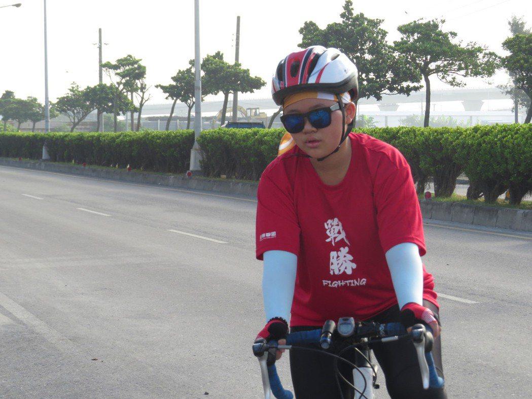 「大寶」張瓅云第二日代替妹妹繼續騎。圖/楊雅棠攝影