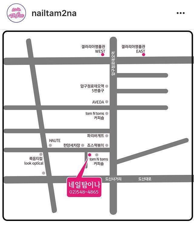 NailTam2na地圖。摘自/nailtam2na instagram
