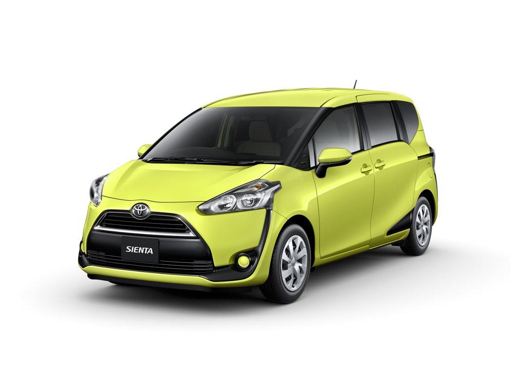 Toyota Sienta的潮流外型將更受年輕人喜好。 圖/Toyota提供