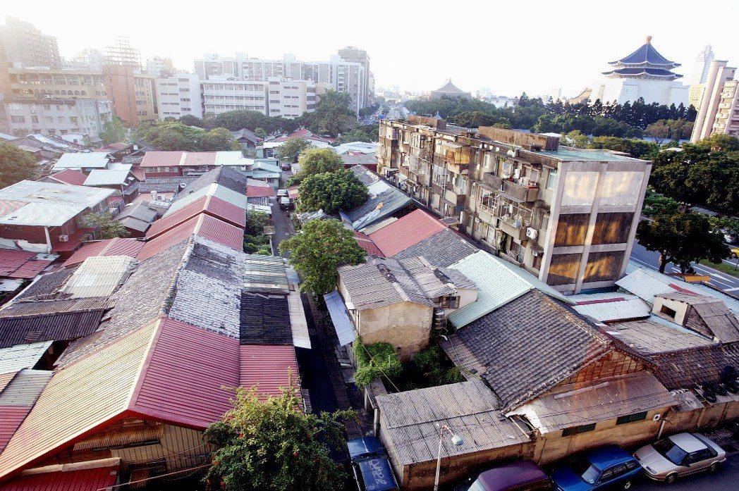 華光社區拆除前的樣貌。 圖/聯合報系資料照片