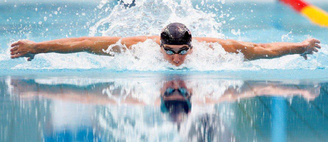 2008年在北京奧運上演八金傳奇的美國泳將菲爾普斯。 圖/美聯社