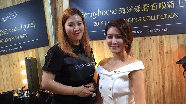 朴信惠御用化妝師李韓那(左)來台,分享韓星的美麗秘密。記者陶福媛/攝影