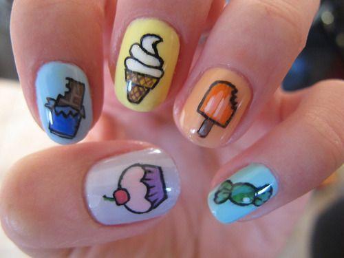 酷暑難耐,快給你的指尖也吃點冰淇淋吧!夏天就是糖果色和冰淇淋圖案的天下,畫上這些...