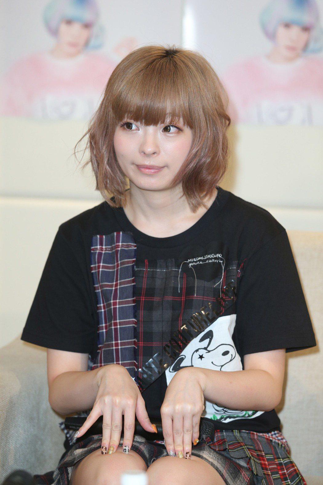 日本歌手卡莉怪妞。 聯合報系資料照片  記者陳瑞源/攝影