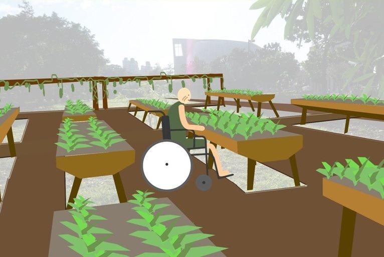 園藝體驗概念圖。 圖/劉宸光設計;林奕祺提供