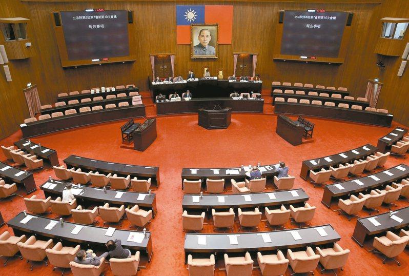 立法院以前有一個讓人聞之色變的「43號座位」。 報系資料照