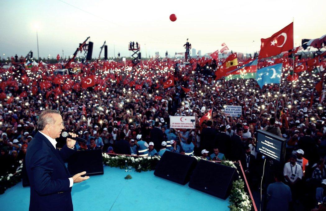 土耳其總統厄多安。 圖/歐新社