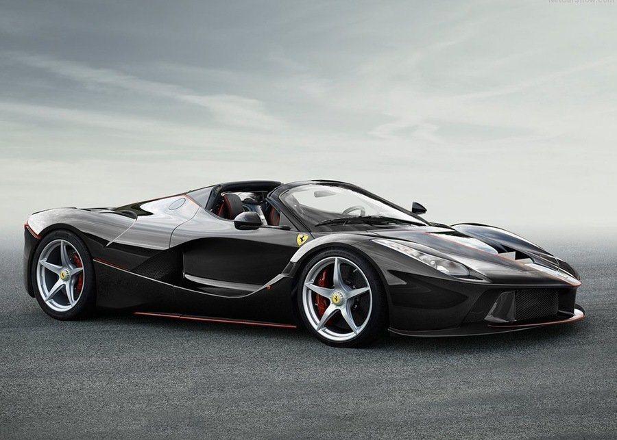 法拉利LaFerrari敞篷版車型。 摘自Ferrari