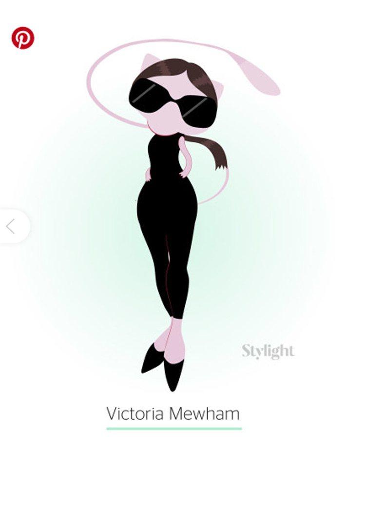 維多利亞貝克漢穿著看似由她自己設計的緊身洋裝,高傲時尚。圖/摘自Stylight...