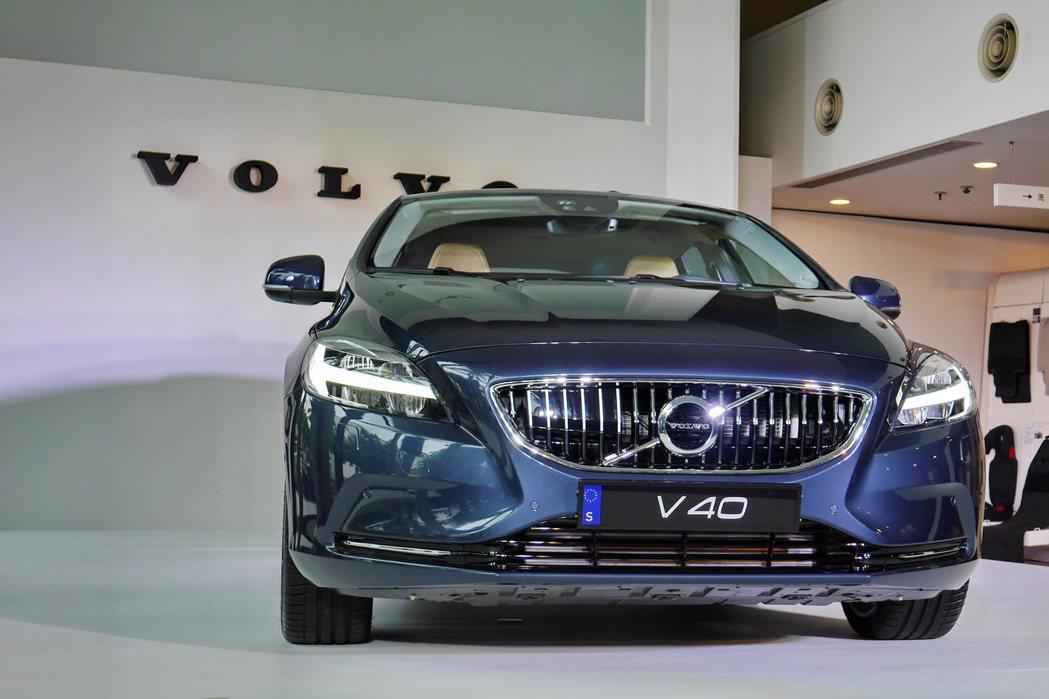 Volvo總代理國際富豪汽車發表2017年式V40車款。 記者陳威任/攝影