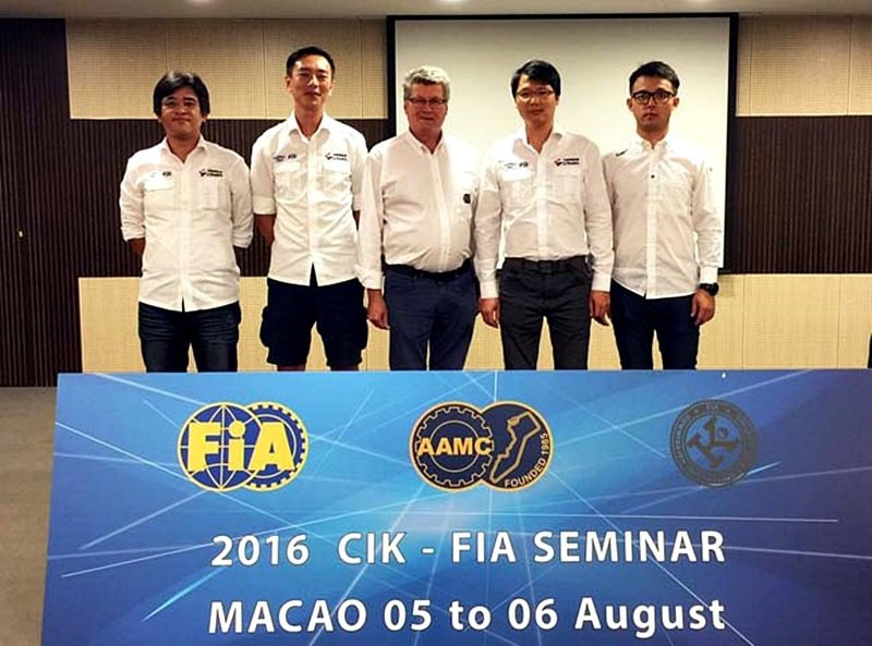 中華賽車會派出團隊前往澳門參加培訓。 中華賽車會提供