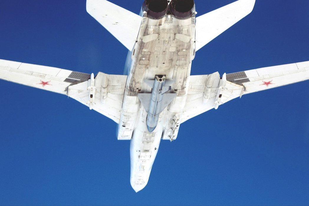 資料圖片:俄軍的Tu-22戰略轟炸機。 圖/路透社