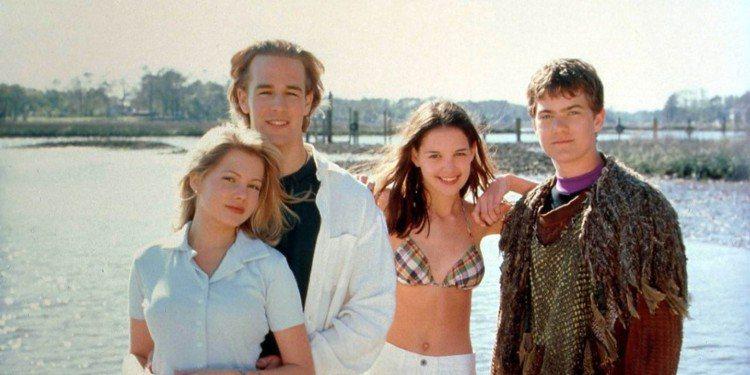 喬許亞傑克森(右起)、凱蒂荷姆絲在合作「戀愛世代」時已經假戲真作。圖/摘自bus...