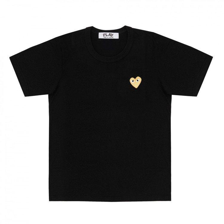 Gold Heart金心系列T恤黑色款,3400元。圖/團團提供