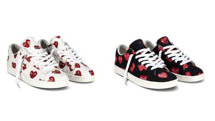 PLAY COMME des GARÇONS與Converse聯名鞋款,各610...