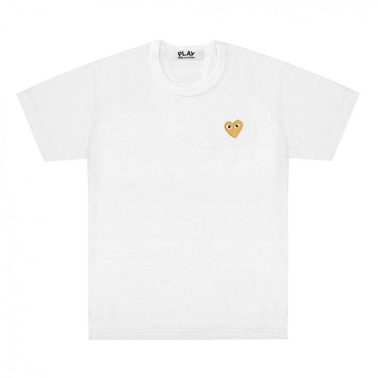 Gold Heart金心系列T恤白色款,3400元。圖/團團提供