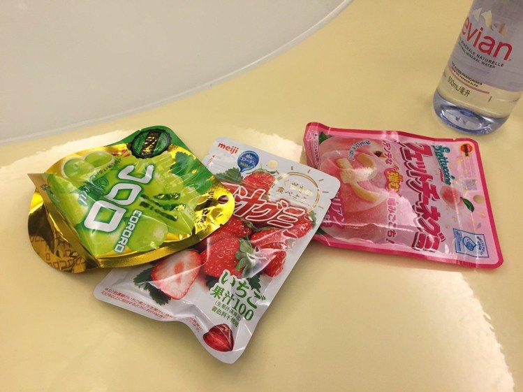 孫芸芸喜歡吃的軟糖。記者楊詩涵/攝影