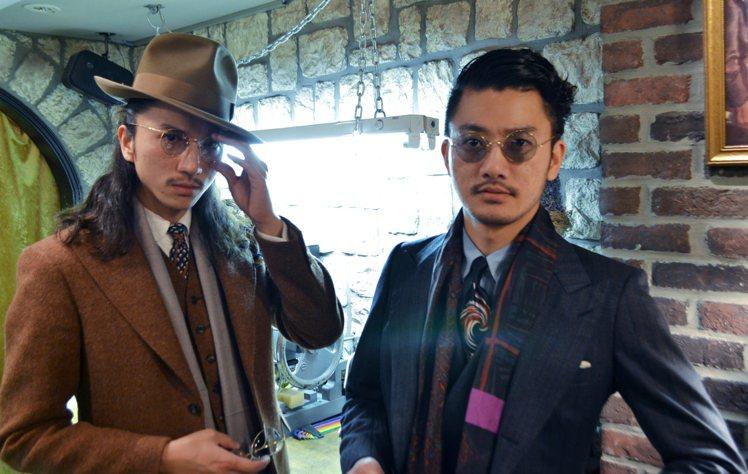 骨董眼鏡專賣店Solakzade創辦人岡本兄弟。圖/OAK ROOM提供