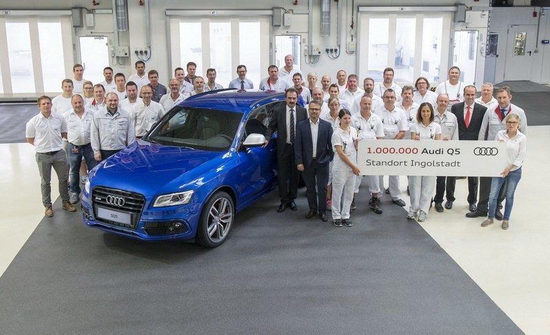 Audi第100萬輛Q5於8月在Ingolstadt工廠已正式駛出生產線,這第1...