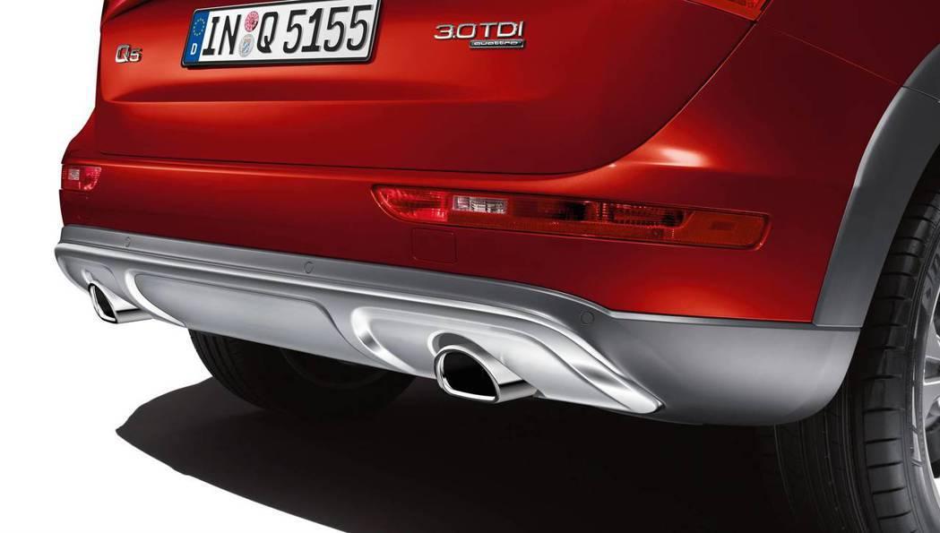 Audi Q5車系限量推出越野套件免費升級專案,圖為套件後保險桿。 圖/台灣奧迪...