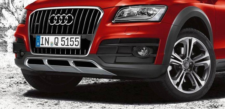 Audi Q5車系限量推出越野套件免費升級專案,圖為套件保險桿、水箱護罩及20吋...