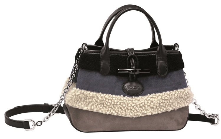 Longchamp拼貼Roseau Patch手提包,29,800元。圖/Lon...