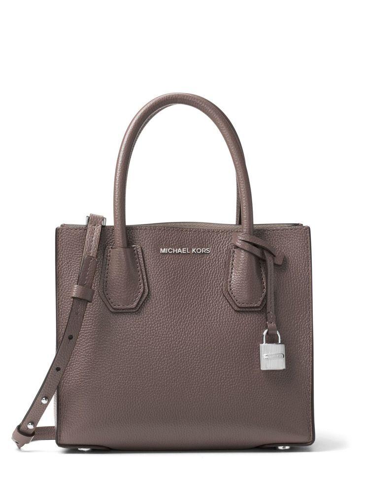 Mercer深褐色方型托特包,售價(大)15,600元、(小)13,300元。圖...
