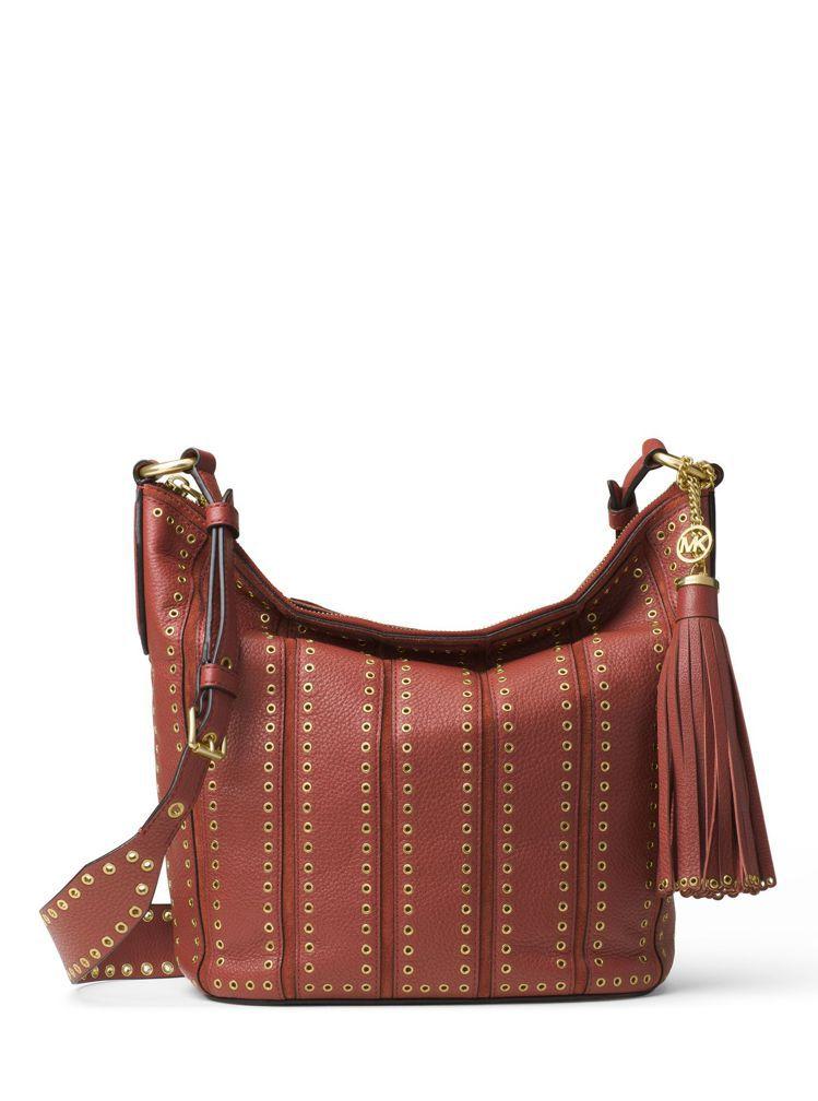 Brooklyn磚紅色肩包,售價27,600元。圖/MICHAEL Michae...
