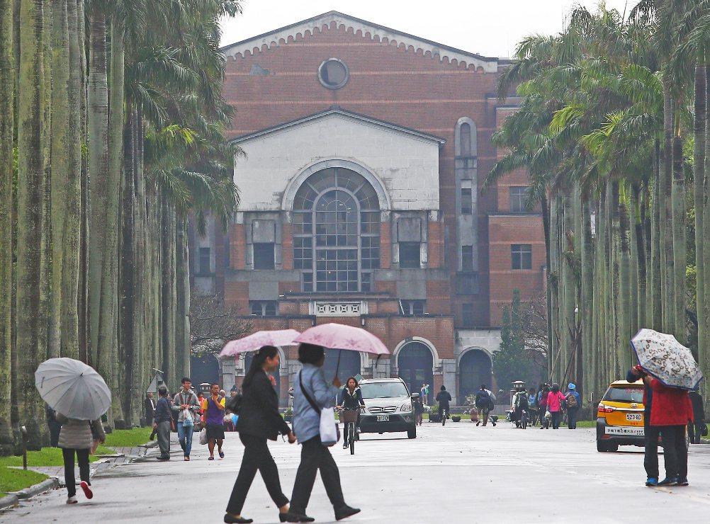 圖為台大校園。 圖/聯合報系資料照片