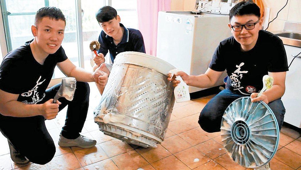 「木酢達人」開創居家清潔洗衣機服務,營運4個月獲利超過50萬。 記者林麒瑋╱攝影