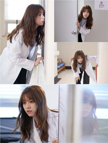 23日,韓國MBC電視台水木劇(週三、四)《W-兩個世界》公開第十集劇照。在公開的照片中,吳妍珠(韓孝周飾)雖然在平日里非常熟悉的醫院內,但表情緊張又有些陌生,就好像怕被某人發現一樣,時而彎著腰,時...
