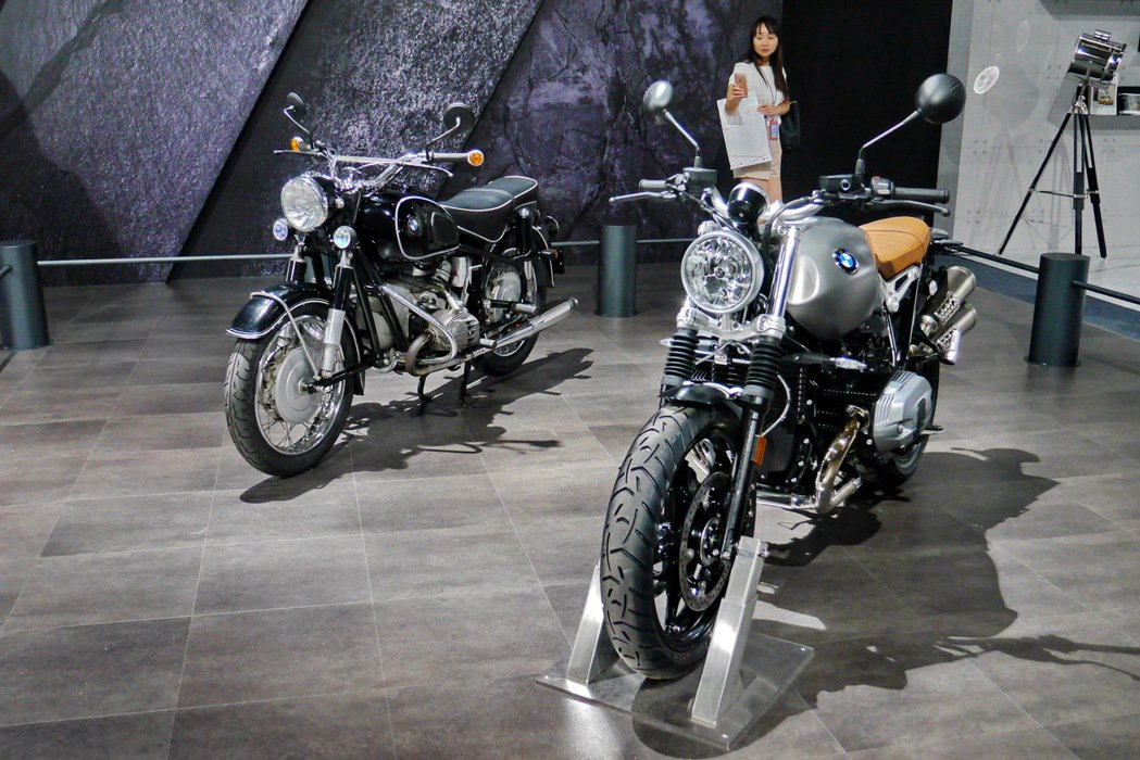 BMW也在特展中展示旗下摩托車款。 記者陳威任/攝影