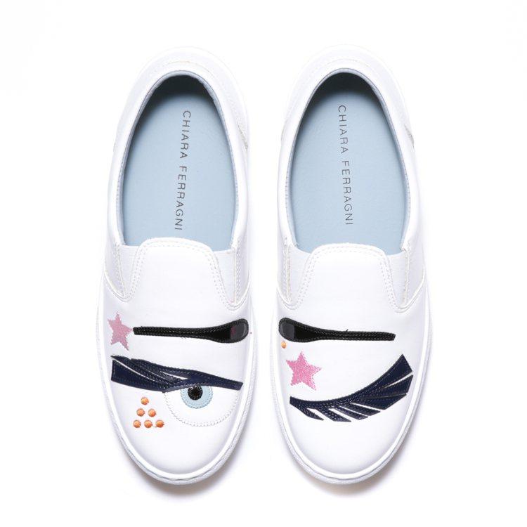 Flirting系列 Glam Rock白色厚底鞋,售價11,800元。圖/Ch...