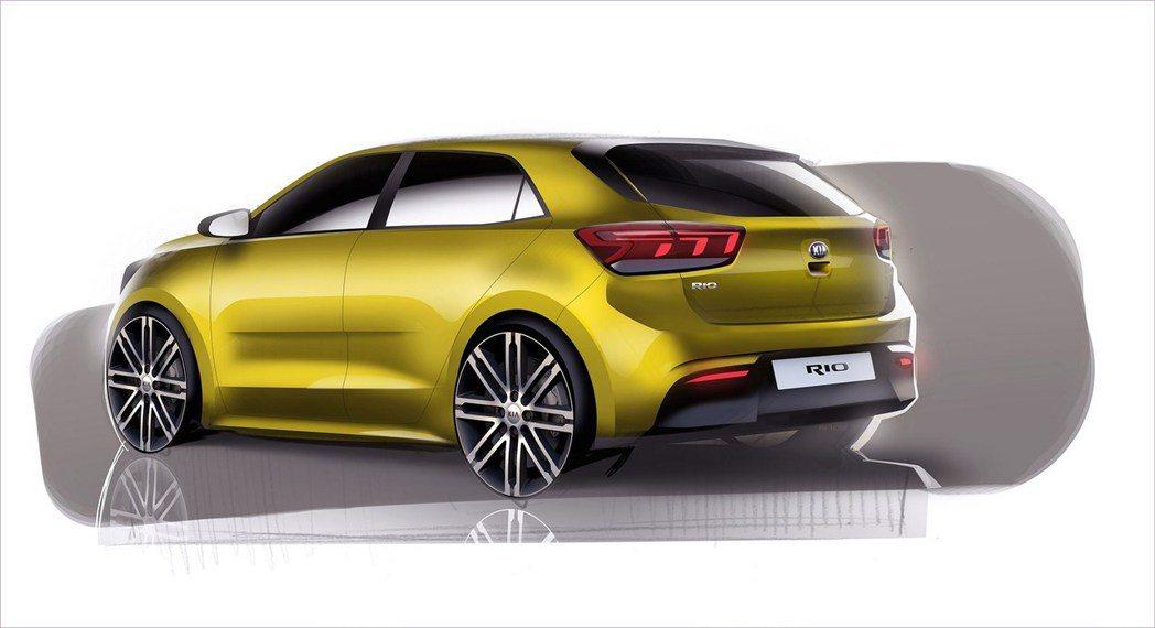 全新KIA Rio更具動感,將於巴黎車展首發。 圖/www.carmagazin...
