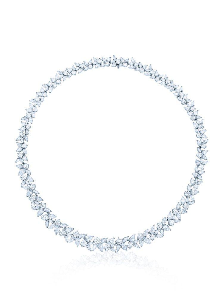 Tiffany Cluster鑽石項鍊,936萬元。圖╱Tiffany提供
