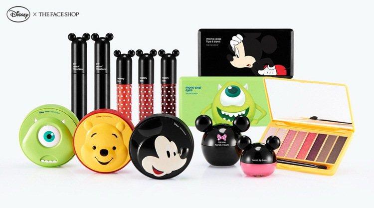THE FACE SHOP與迪士尼合作推出的卡通聯名彩妝,榮登露天拍賣熱搜冠軍。...