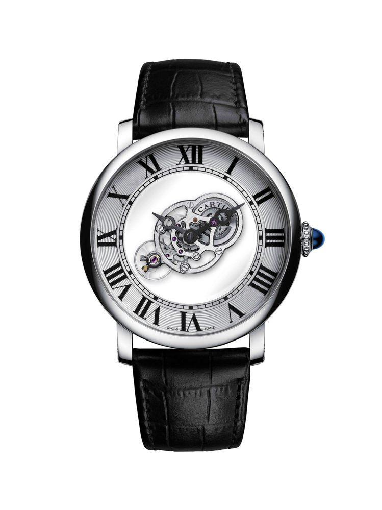 Rotonde de Cartier天體運轉式神祕陀飛輪腕表,43.5mm 鈀金...