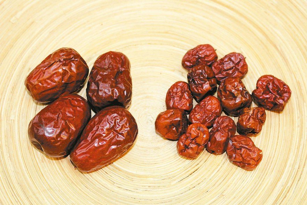 紅棗含豐富維生素和鐵,可補中益氣、養血安神、健脾胃。 陳潮宗醫師/提供