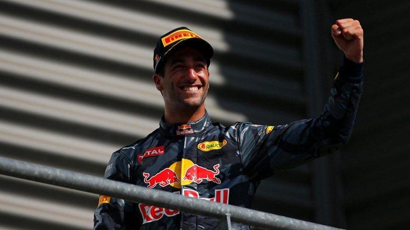 紅牛車隊Daniel Ricciardo在比利時站拿下亞軍。 摘自F1官方