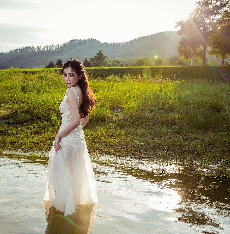 陳怡蓉婚紗照曝光。圖/明悅經紀提供
